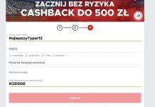 Betclic bonus powitalny 2019. Cashback na początek do 500 PLN!